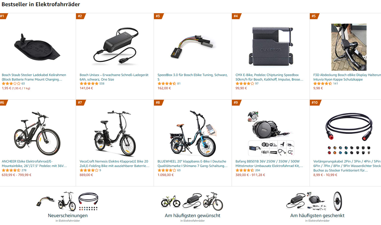Bestseller E Bike E-Bike Elektrofahrräder