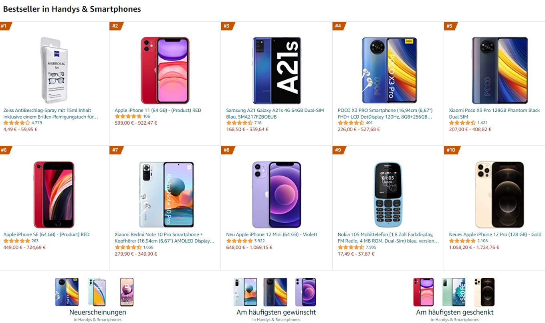 Bestseller Handys & Smartphones