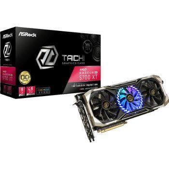 ASRock Radeon RX 5700 XT TAICHI X 8G OC+, Grafikkarte + AMD Radeon Raise The Game Bundle (einlösbar bis 09.01.2021)-Spiel Angebote günstig kaufen