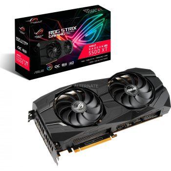 Asus Radeon RX 5500 XT ROG STRIX GAMING OC, Grafikkarte + AMD Radeon Raise The Game Bundle (einlösbar bis 09.01.2021)-Spiel Angebote günstig kaufen