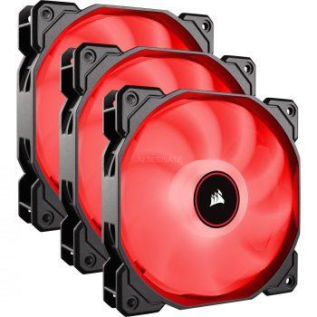 Corsair AF Series, AF120 LED (2018), Red, 120mm, TriplePack, Gehäuselüfter Angebote günstig kaufen
