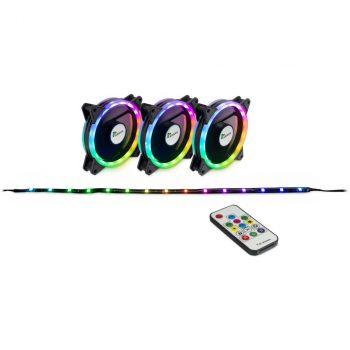 Inter-Tech Argus RGB-Fan Set RS-04 120x120x25, Gehäuselüfter Angebote günstig kaufen
