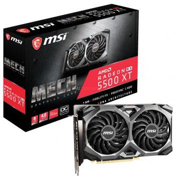 MSI Radeon RX 5500 XT MECH 8G OC, Grafikkarte + AMD Radeon Raise The Game Bundle (einlösbar bis 09.01.2021)-Spiel Angebote günstig kaufen
