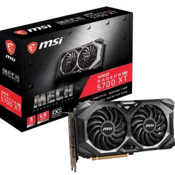 MSI Radeon RX 5700 XT MECH OC, Grafikkarte + AMD Radeon Raise The Game Bundle (einlösbar bis 09.01.2021)-Spiel Angebote günstig kaufen