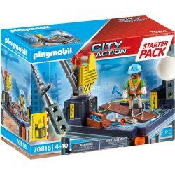 PLAYMOBIL 70816 Starter Pack Baustelle mit Seilwinde Spielzeug Angebote günstig kaufen